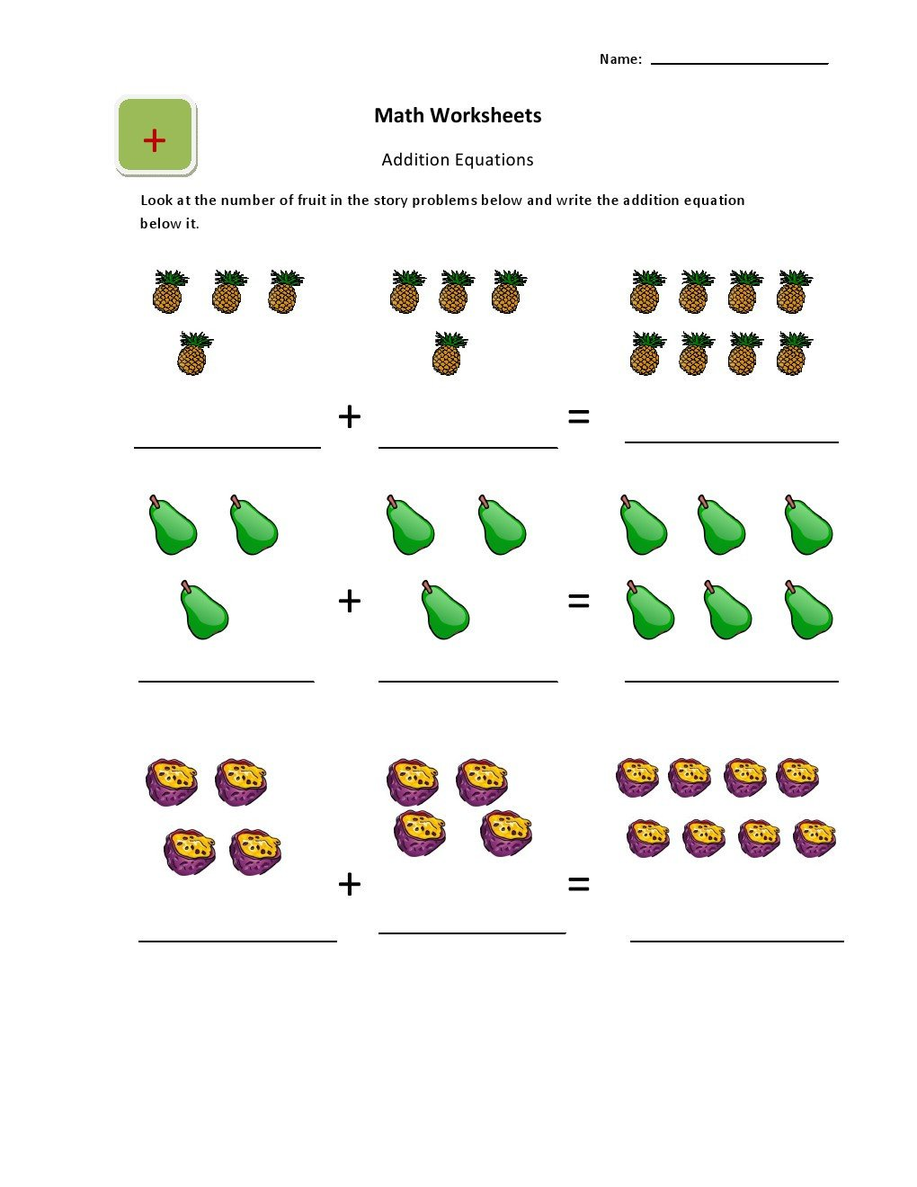 Simple Addition Worksheets for Kindergarten Ukg Simple Addition Worksheets for Kids Kidschoolz