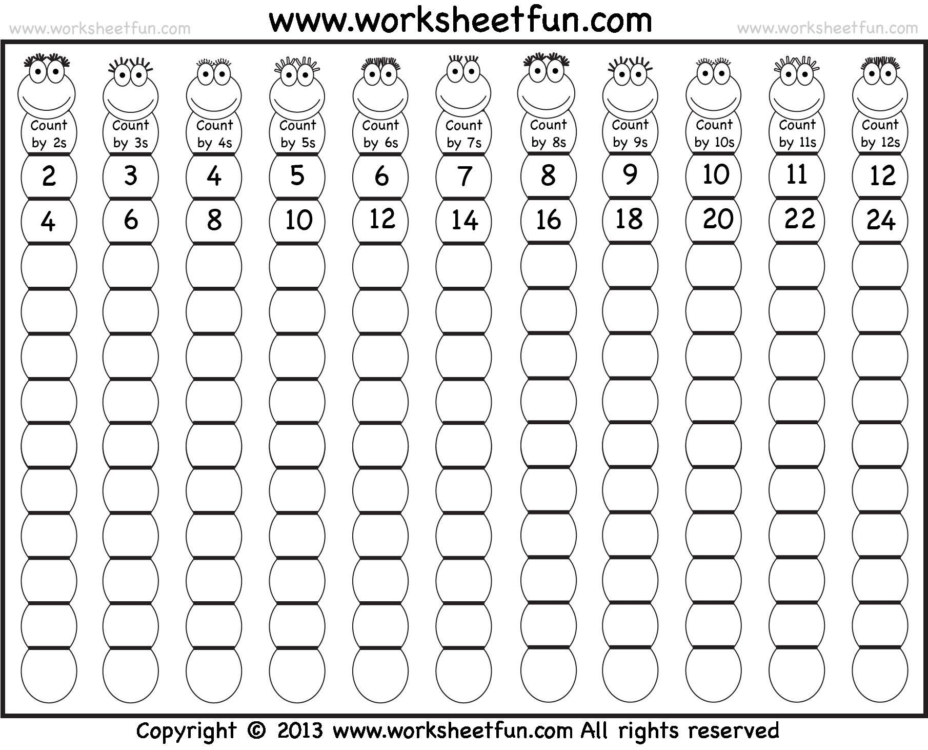 Skip Counting by 6 Worksheets 5 Free Math Worksheets Second Grade 2 Skip Counting Skip