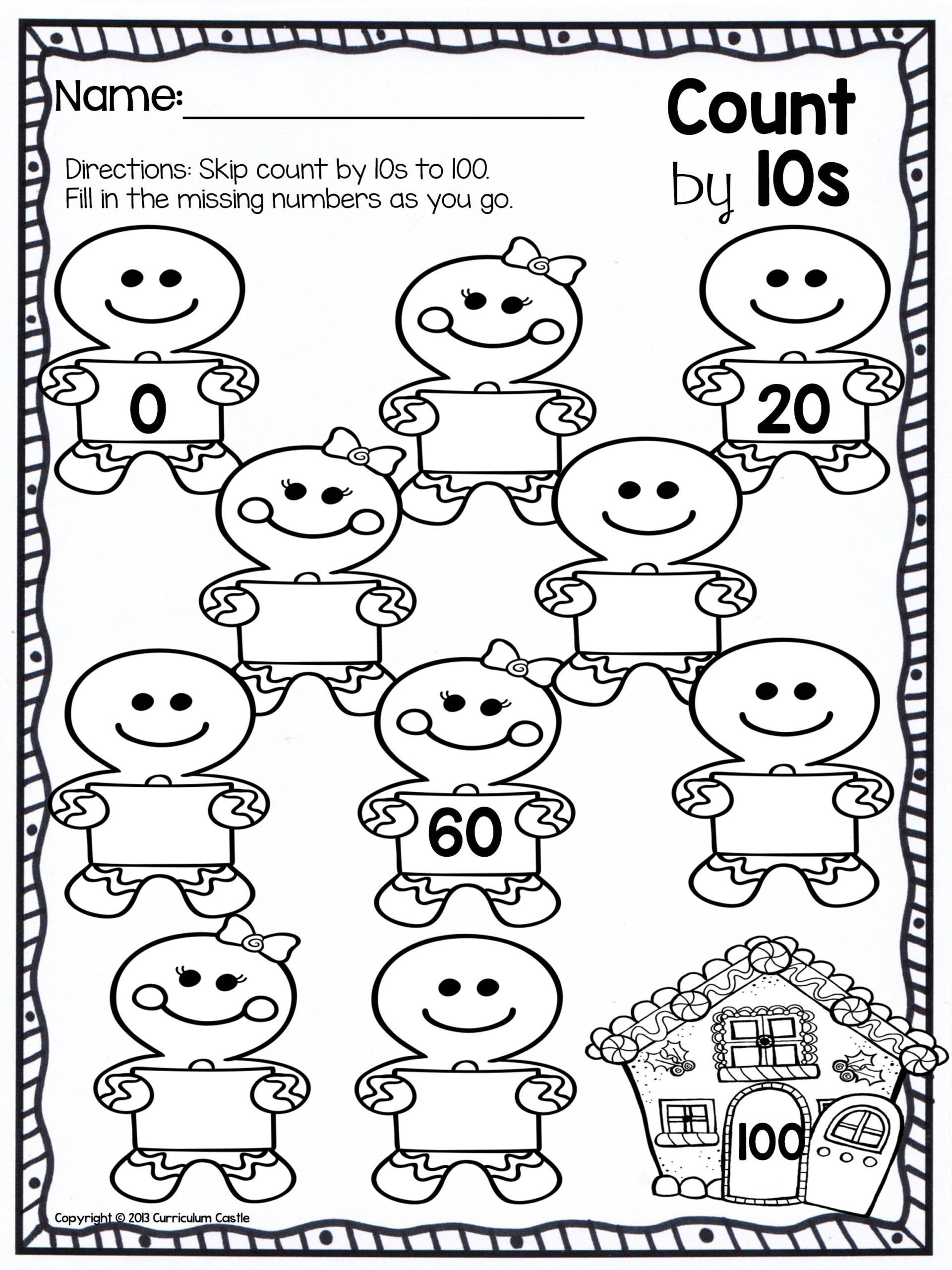 Skip Counting Worksheets First Grade Worksheets Christmas Skip Counting Freebie Kindergarten