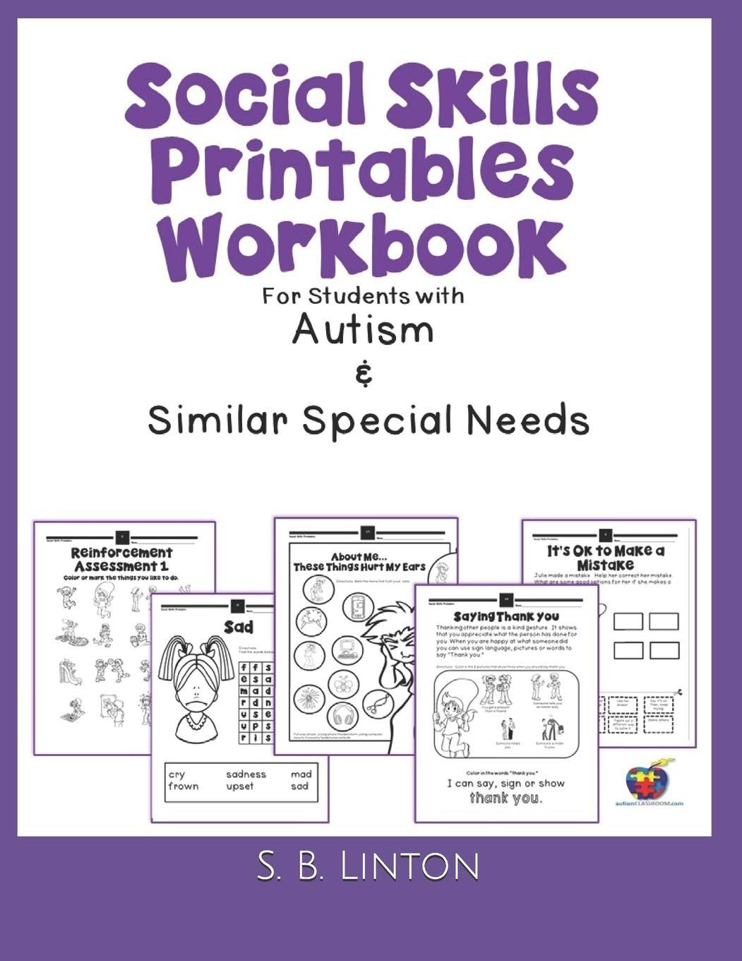 Social Skills Training Worksheets social Skills Printables Workbook for Students with Autism