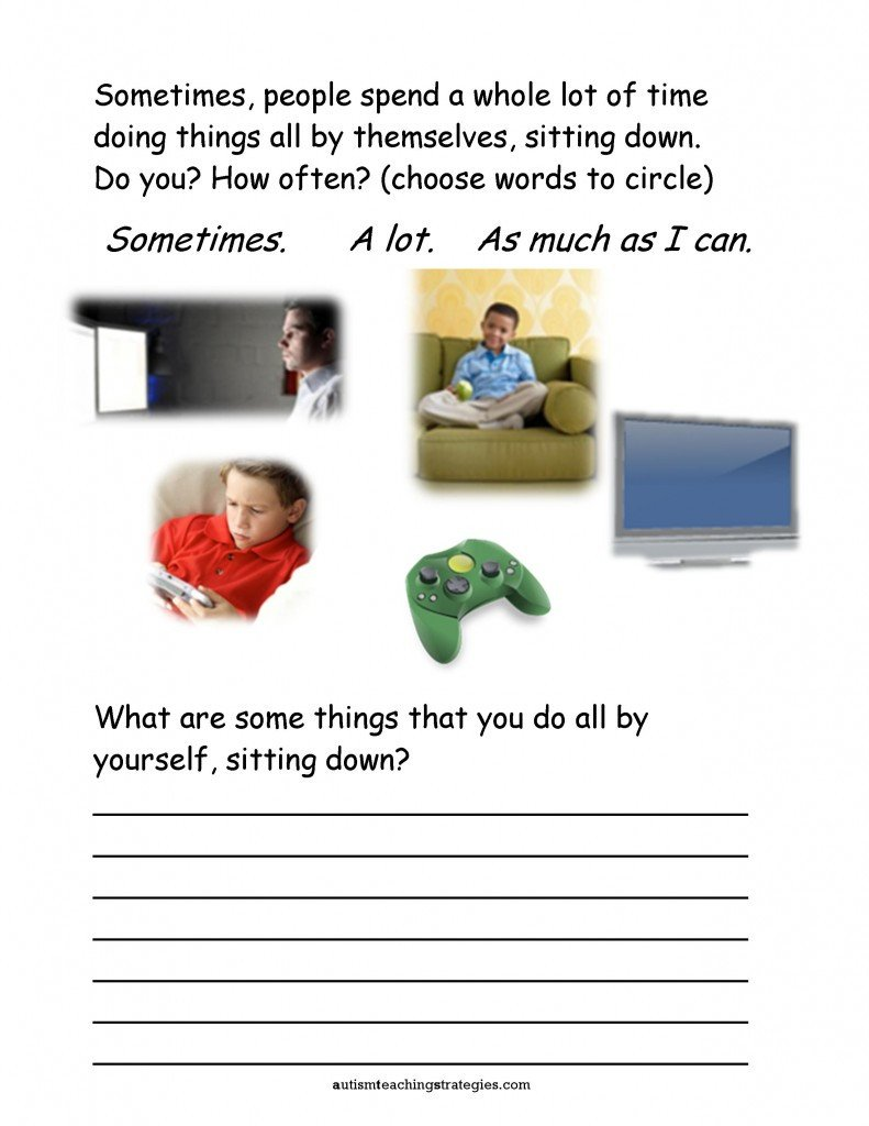 Social Skills Worksheets for Kindergarten Seven social Skills Worksheets for Kids with asd are