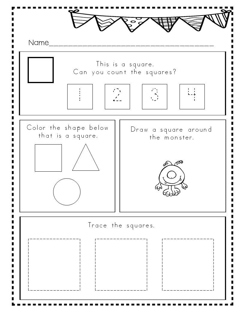 shapes bundle 2d shapes worksheets activities