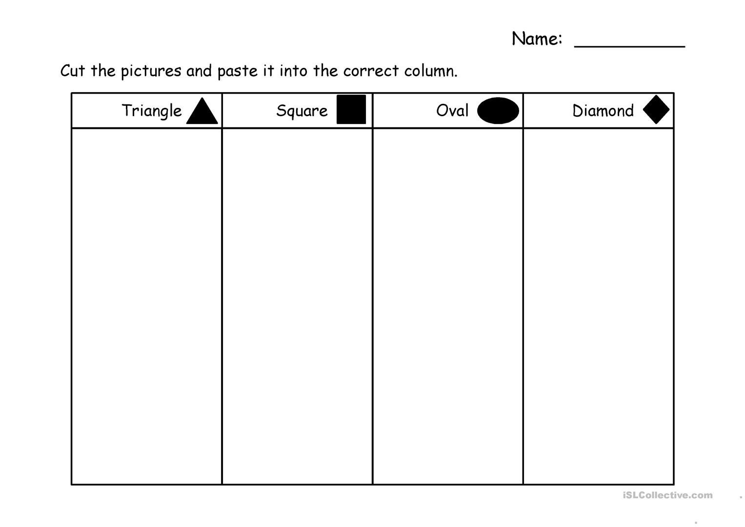Sorting Shapes Worksheets sorting Shapes English Esl Powerpoints for Distance