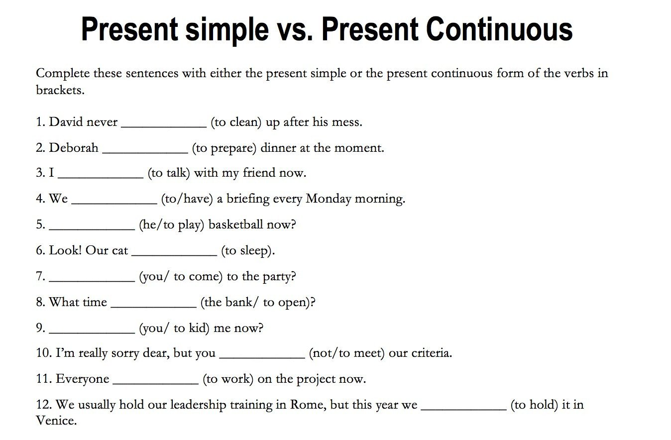 present continuous worksheets and lesson plans free and teacher