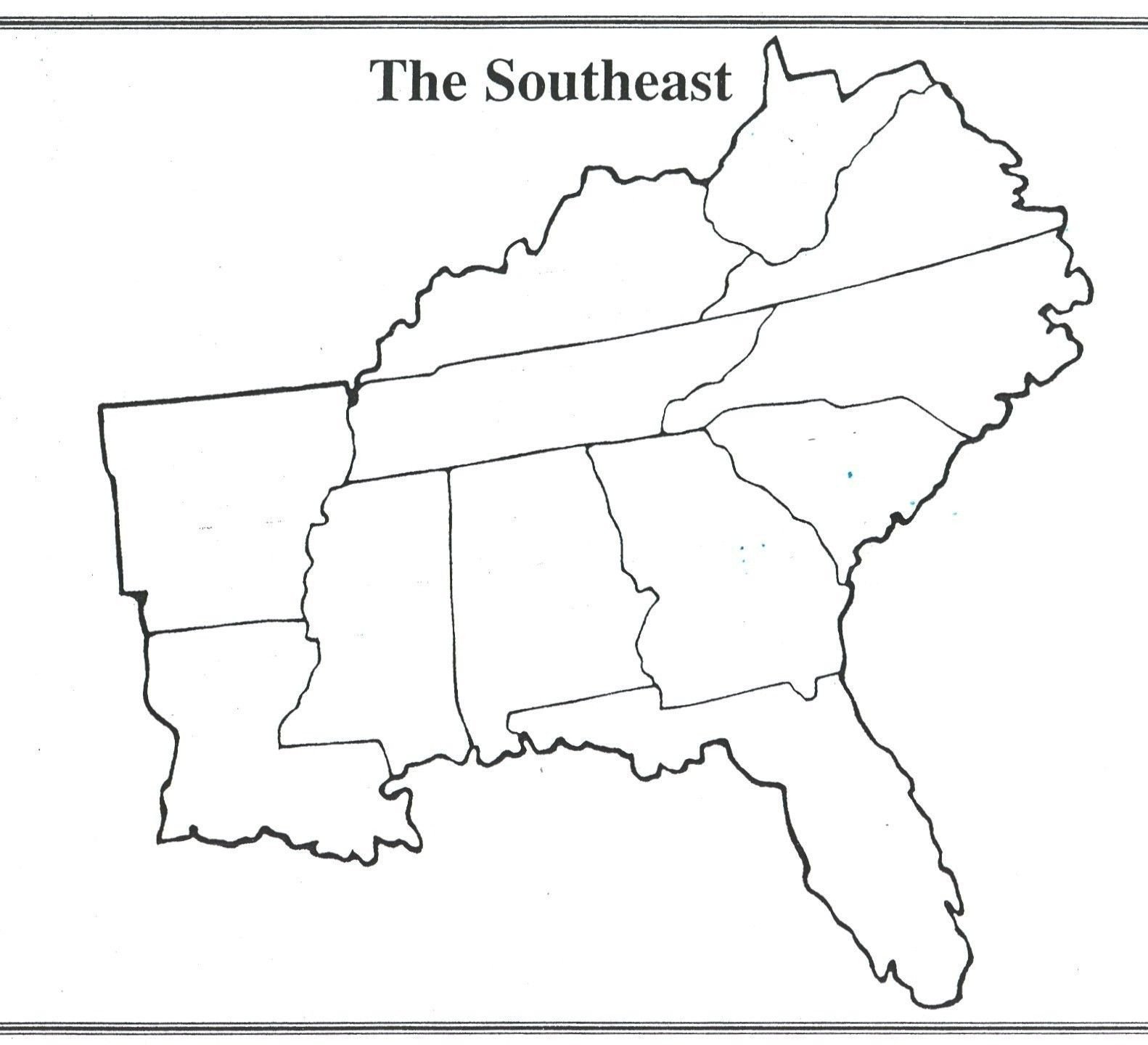 States and Capitals Quiz Worksheet Interesting Blank Us Map Quiz Printable south Eastern States