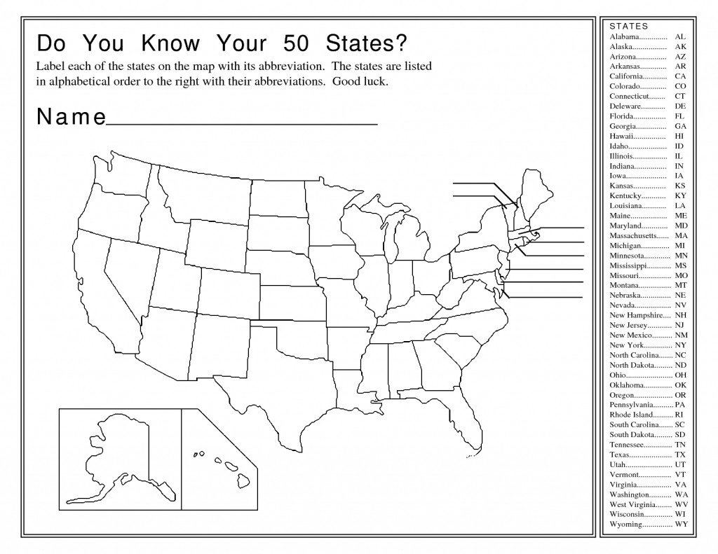 States and Capitals Quiz Worksheet Match States and Capitals Worksheet