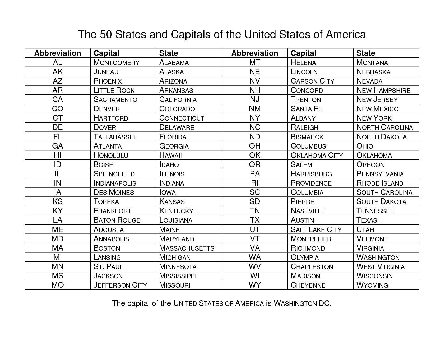 States and Capitals Quiz Worksheet Us States Capital Map Quiz United States Map Quiz with Us