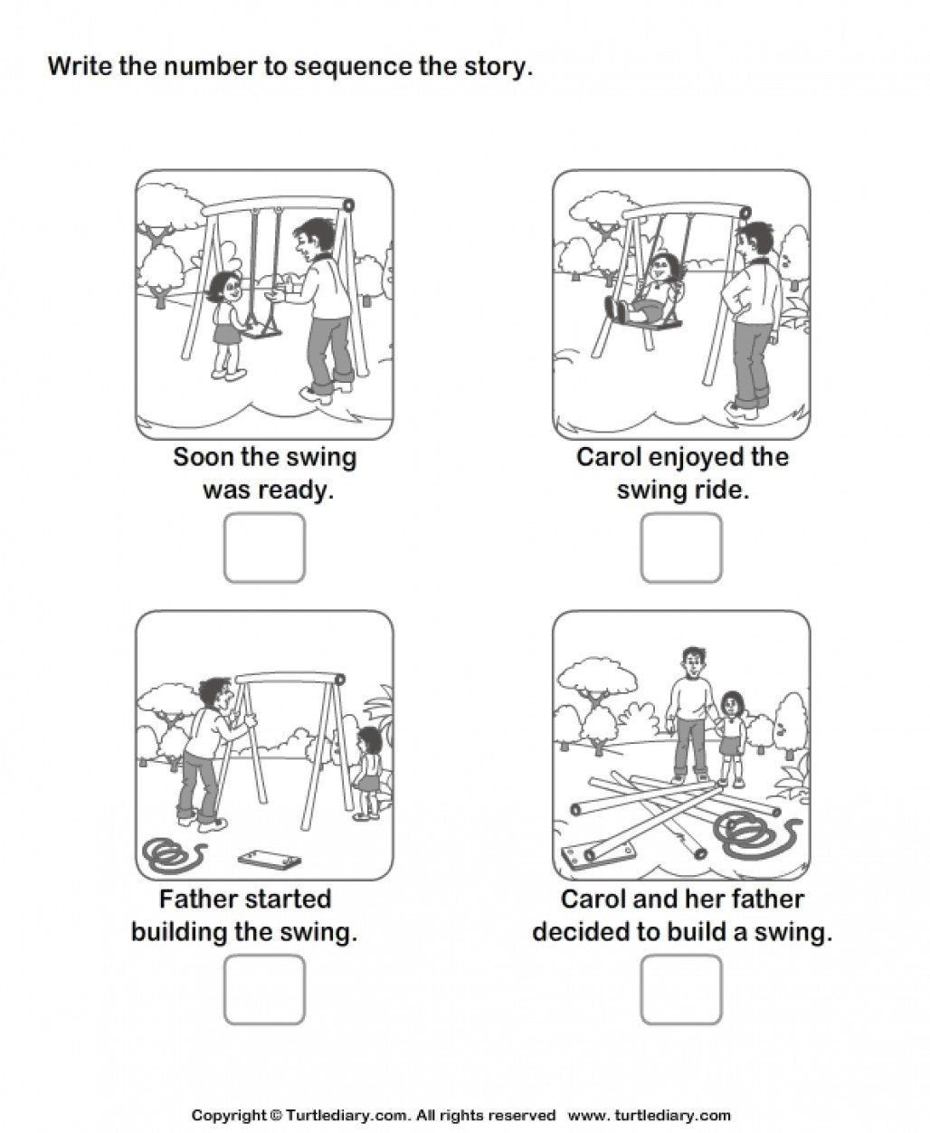 Story Sequencing Worksheets for Kindergarten Story Sequencing Worksheets for Kindergarten New Sequencing
