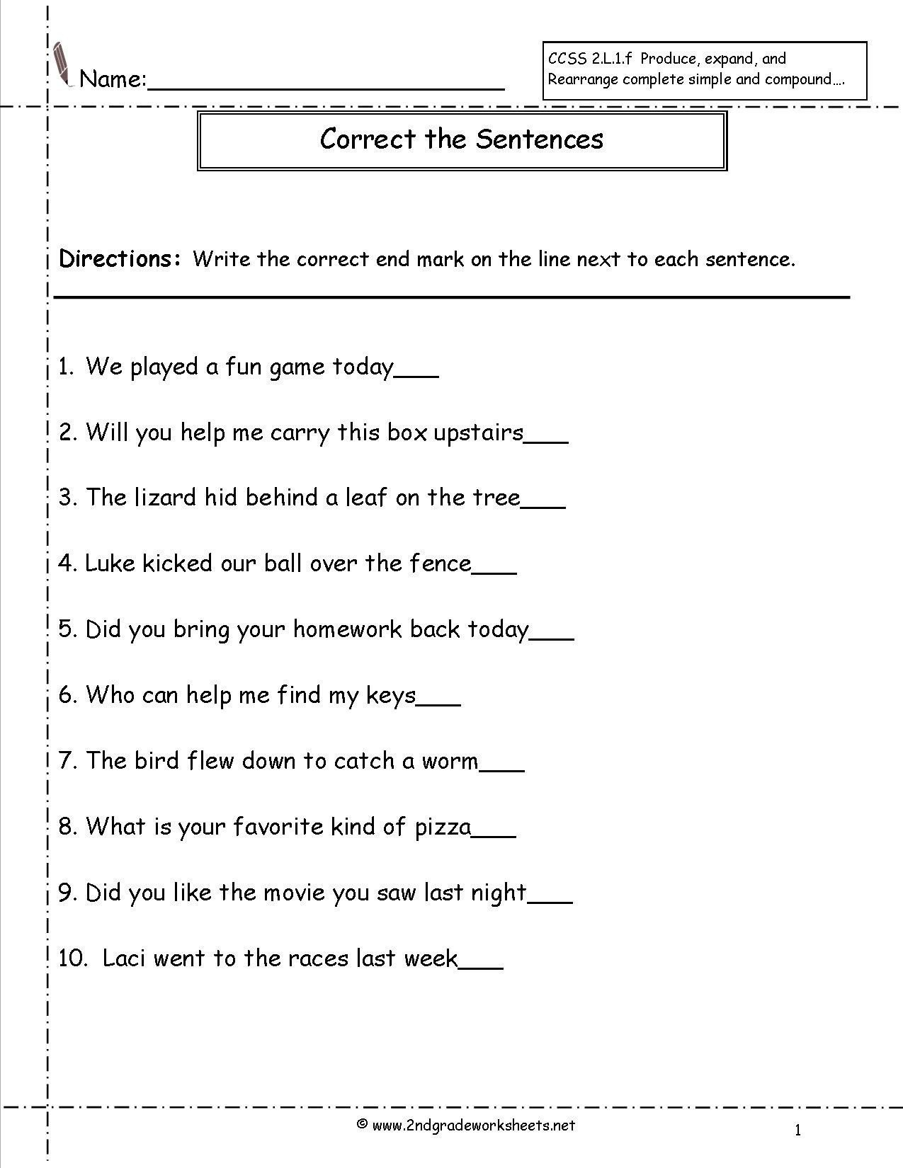 subject predicate worksheet 2nd grade second grade sentences worksheets ccss 2 l 1 f worksheets of subject predicate worksheet 2nd grade 3