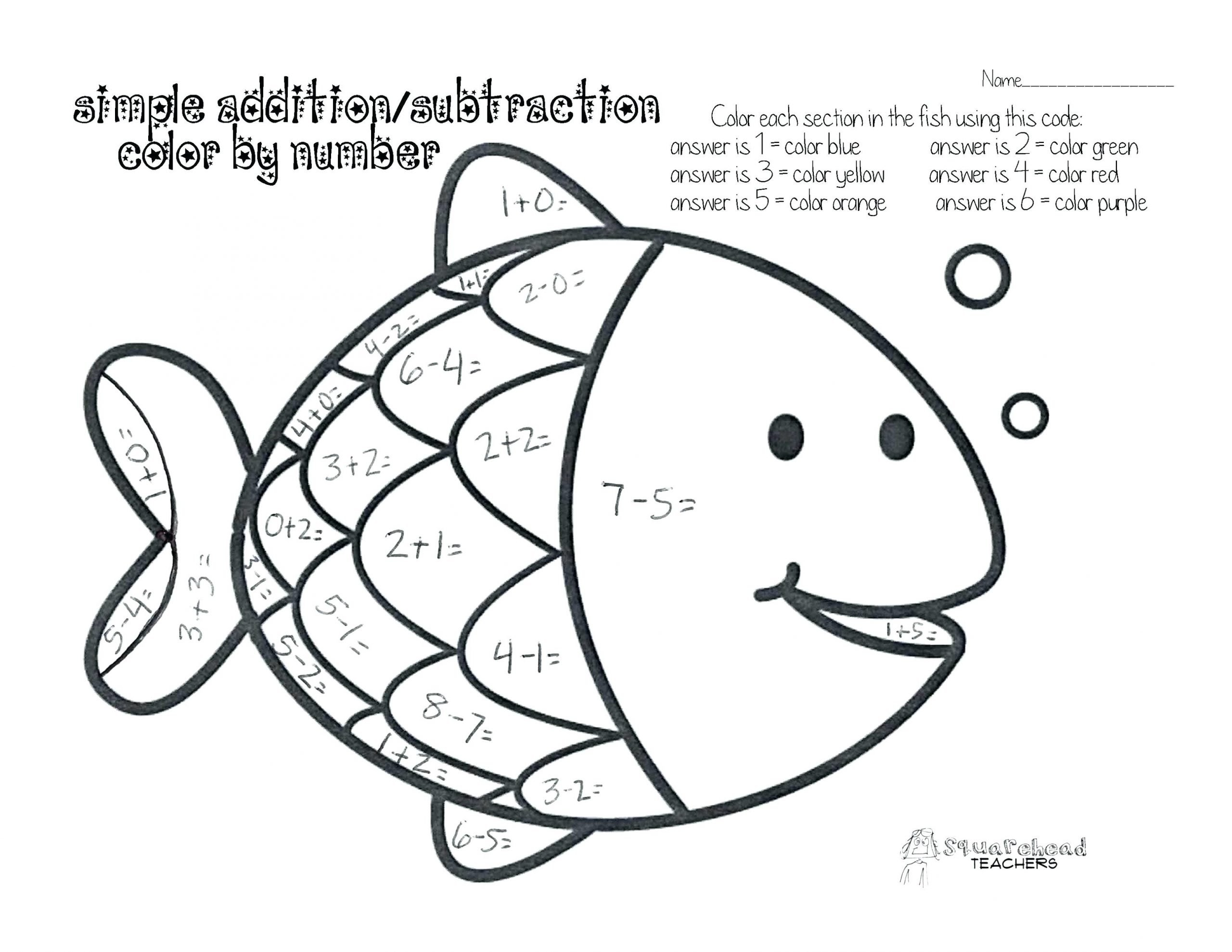Subtraction Coloring Worksheets 2nd Grade Maths Coloring Pages Coloring Home