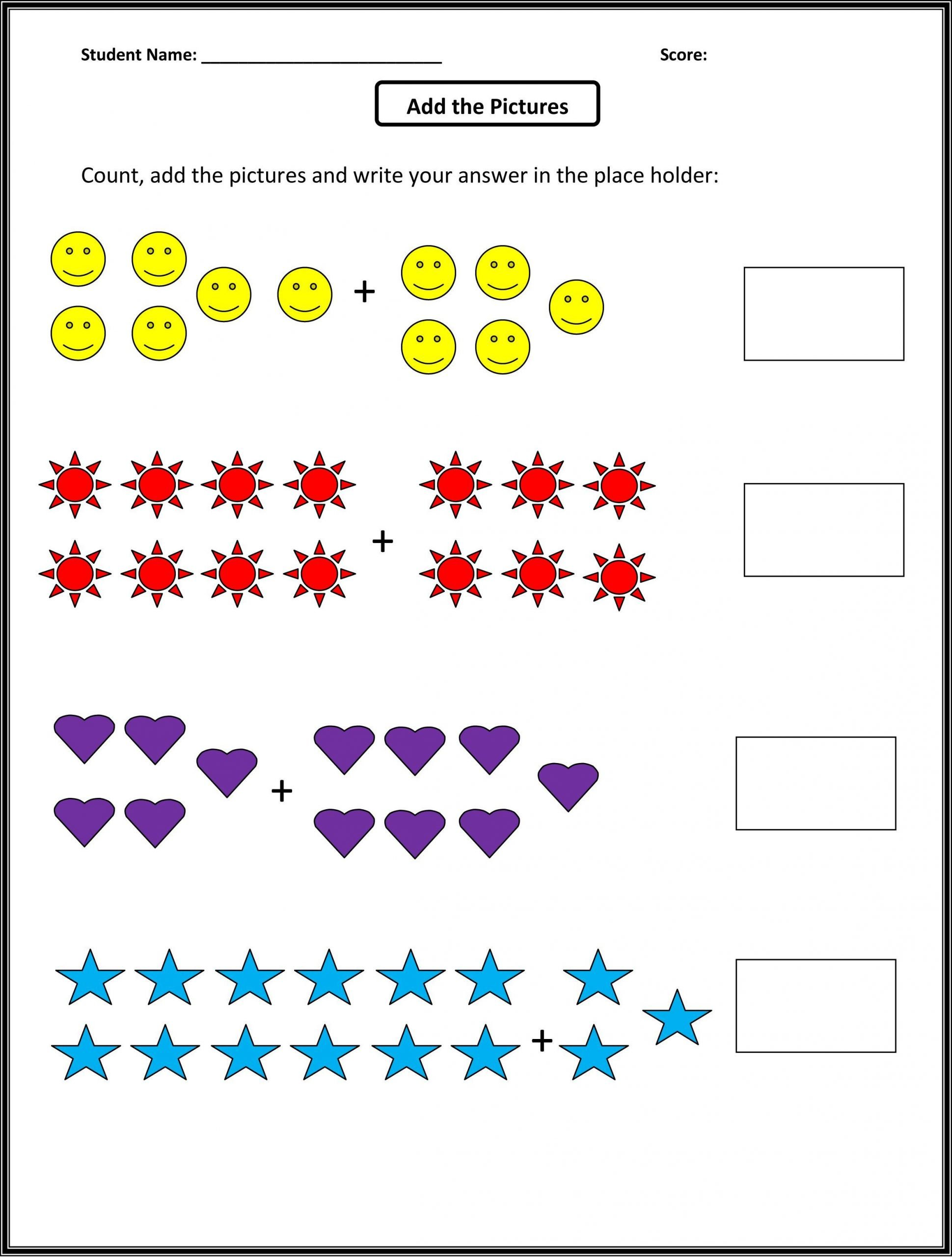 1st Grade Simple Adding Worksheet