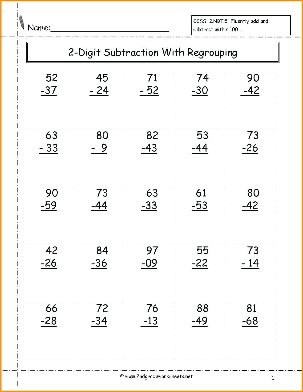 free math worksheets first grade 1 subtraction subtract 1 digit from 2 digit no regrouping of free math worksheets first grade 1 subtraction subtract 1 digit from 2 digit no regrouping