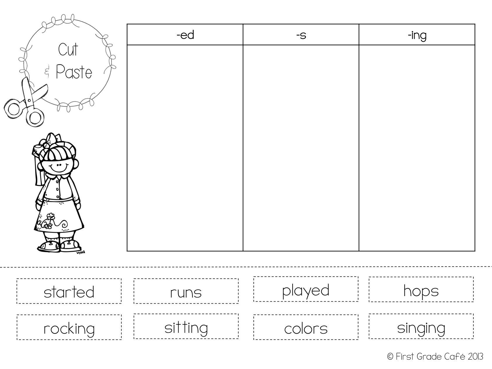 Suffix Ed Worksheet Inflectional Endings