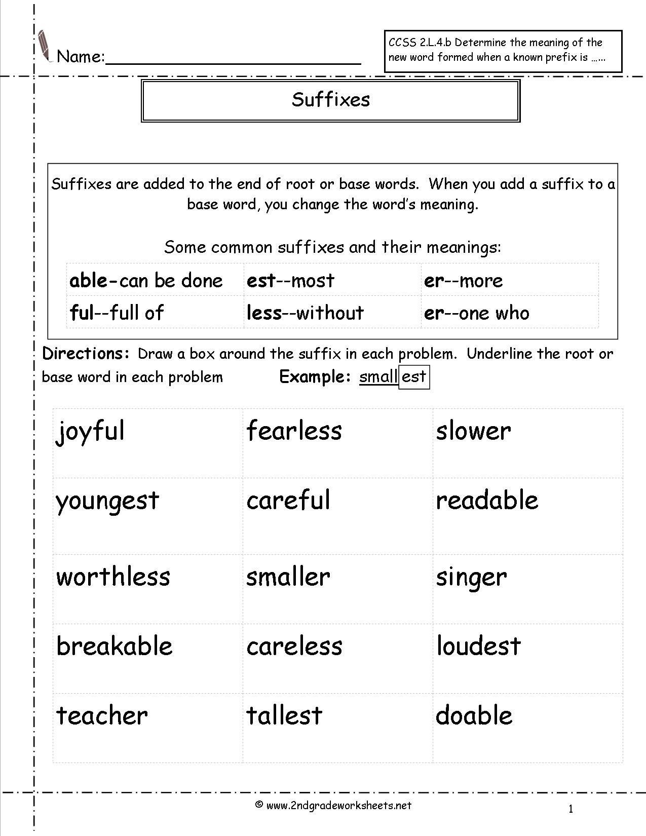 Suffixes Worksheets for 2nd Grade 41 Innovative Prefix Worksheets for You