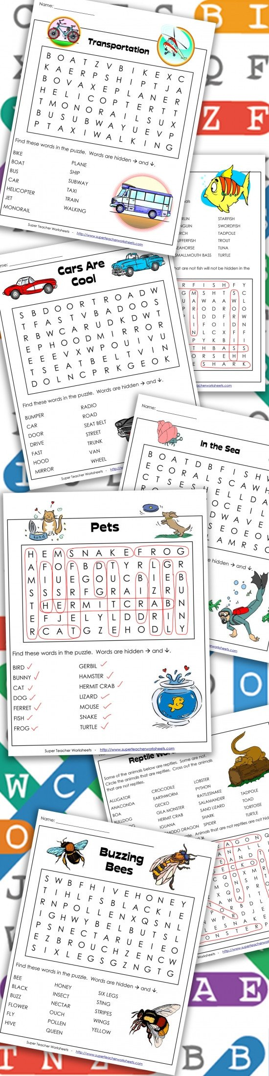 Super Teacher Worksheets Free Account Word Search Puzzles
