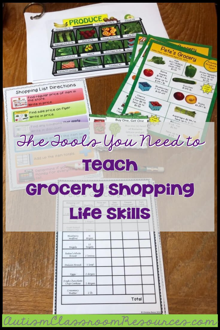 Teaching Independent Living Skills Worksheets the tools You Need to Teach Grocery Shopping Life Skills