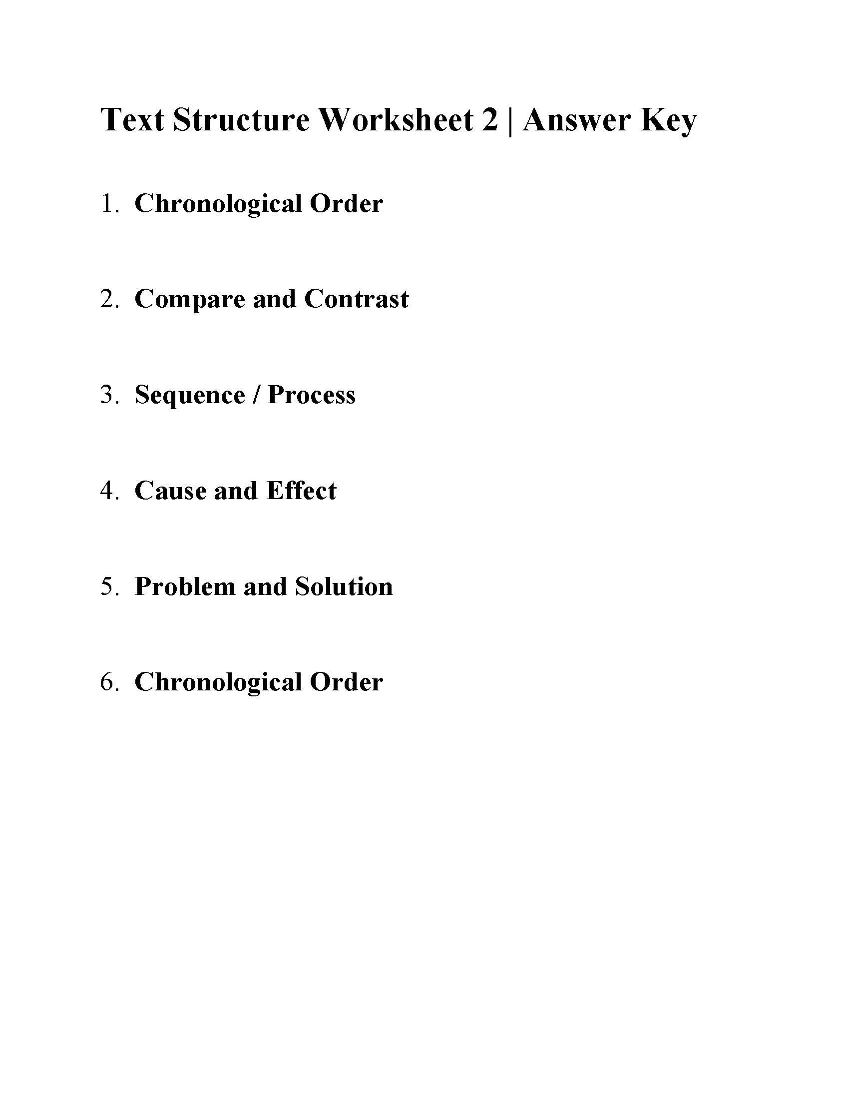 Text Structure Worksheets Grade 4 Text Structure Worksheet 2