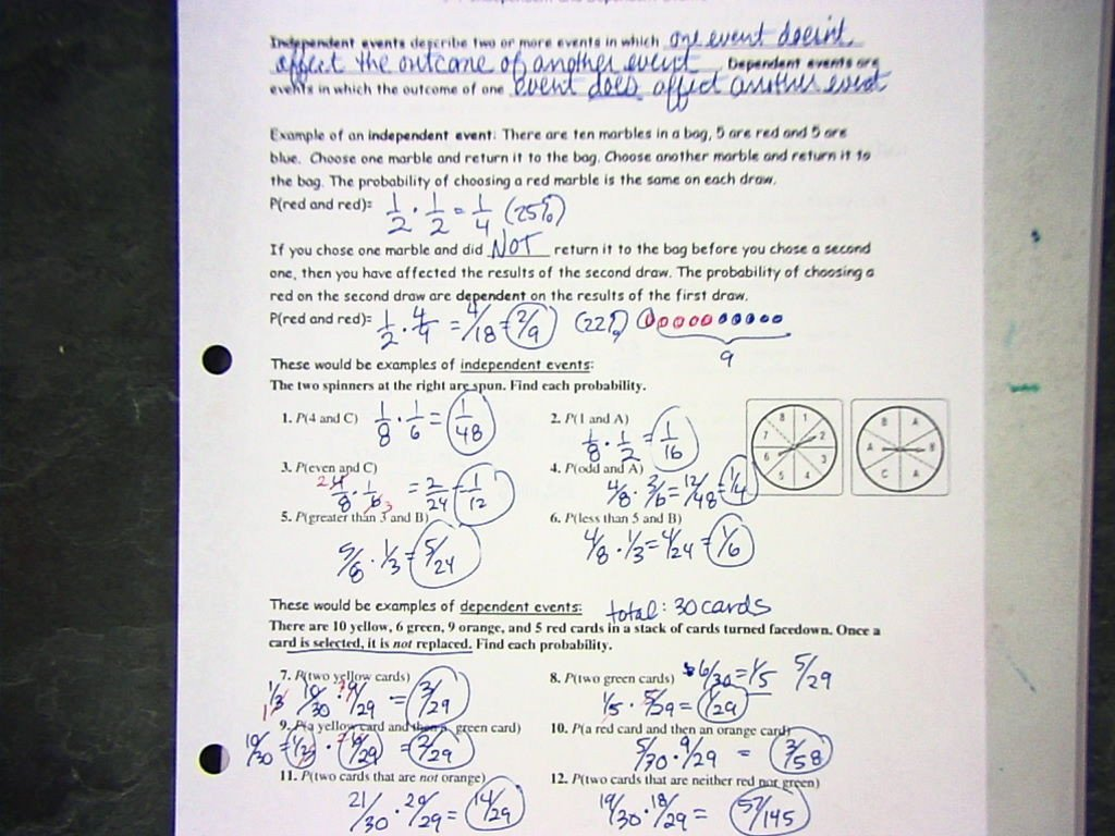 theoretical and experimental probability worksheet answers 1