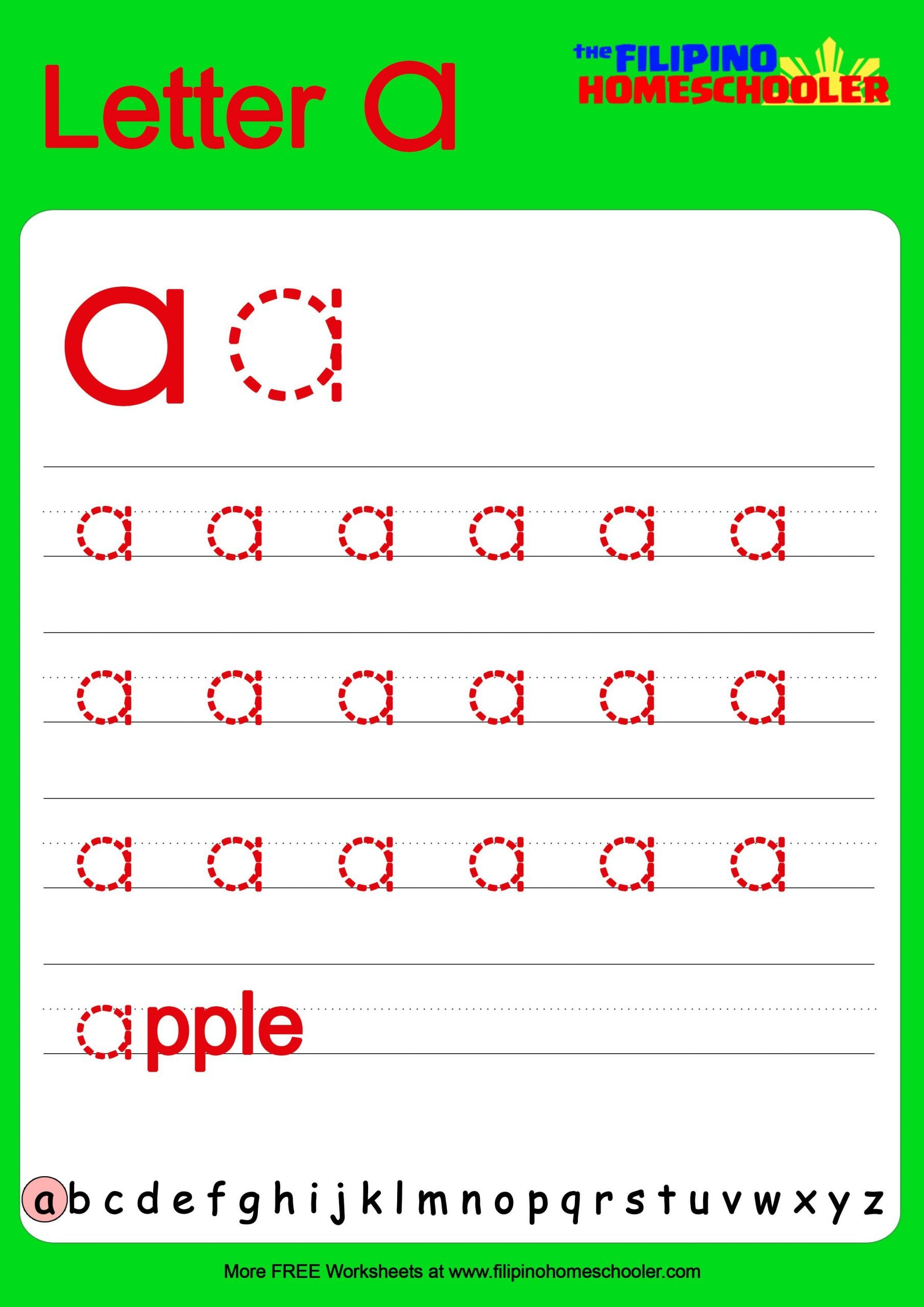 Tracing Lowercase Letters Worksheets Free Lowercase Letter Tracing Worksheets