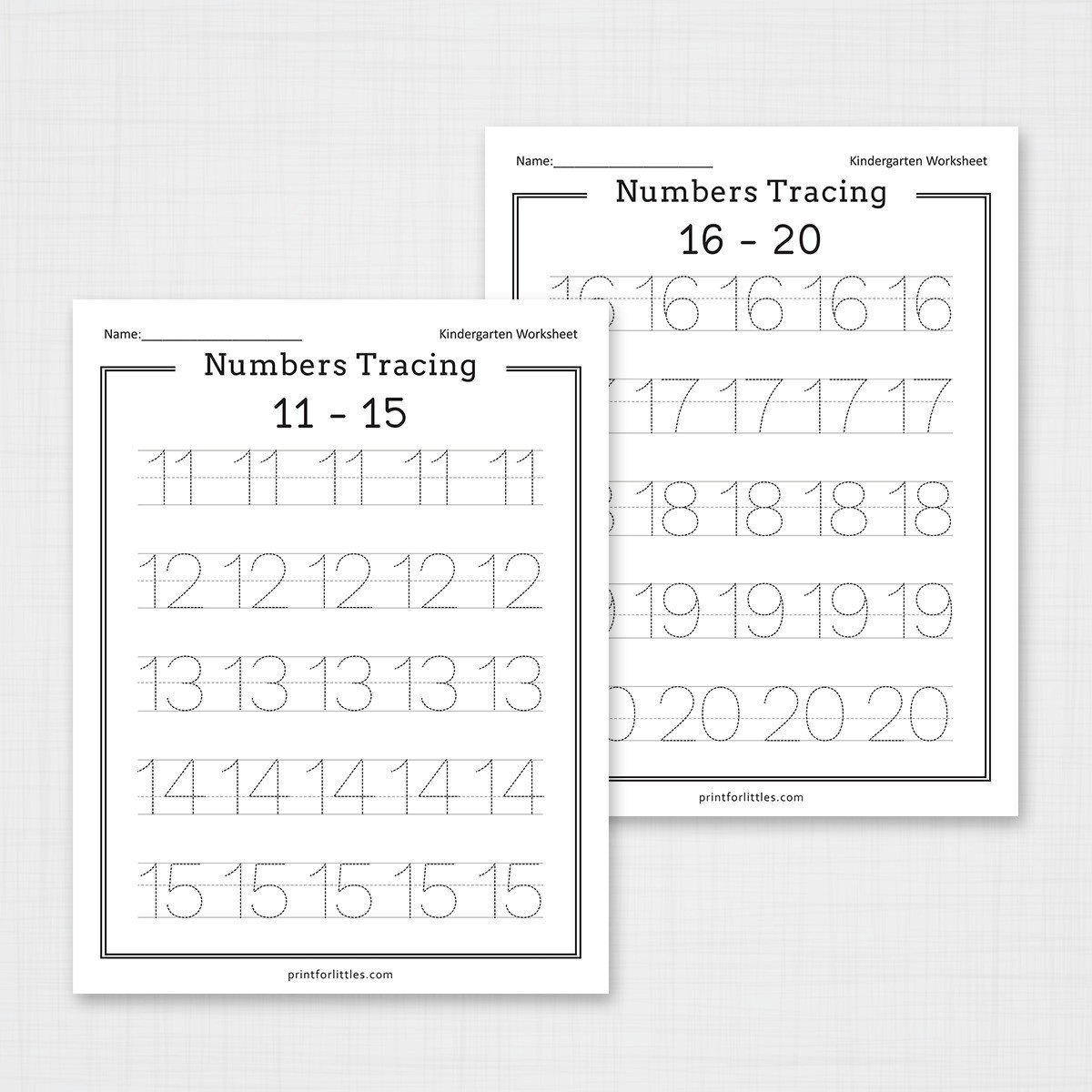 Tracing Numbers 1 20 Worksheets Numbers 1 20 Tracing Worksheets
