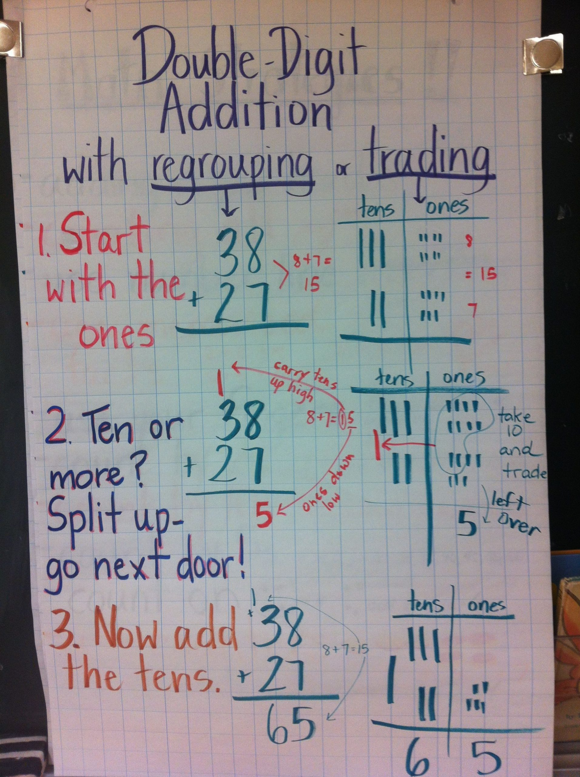 Trade First Subtraction Worksheet Double Digit Addition with Carrying or Regrouping or Trading