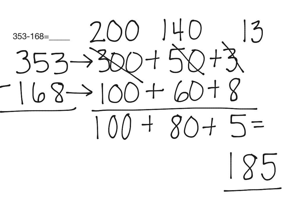 Trade First Subtraction Worksheet Expand and Trade Subtraction Math