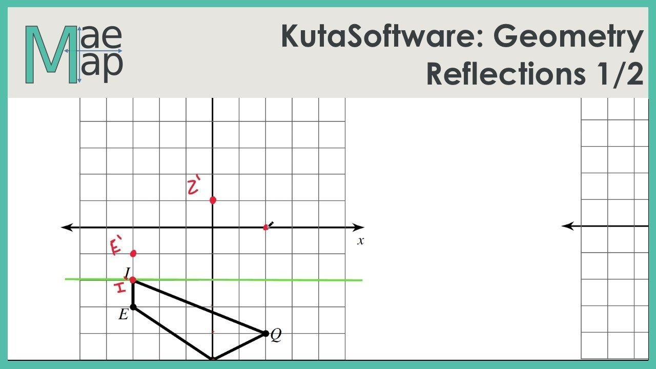 Translation In Geometry Worksheets Kutasoftware Geometry Reflections Part 1