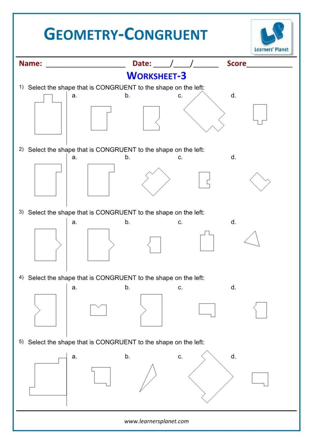 transformation geometry worksheets 2nd grade 6