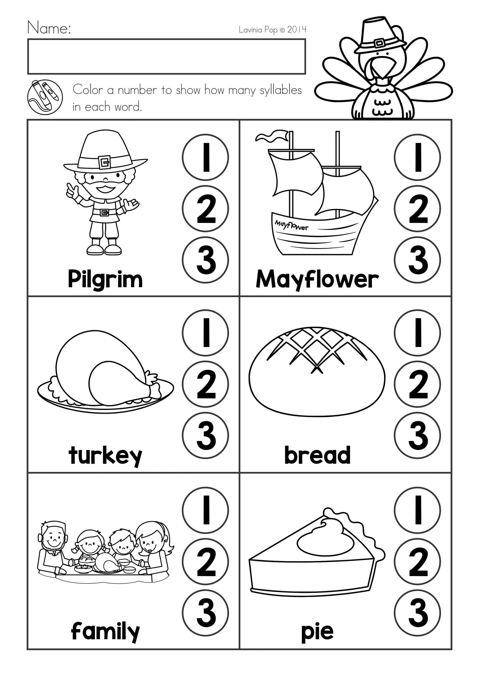 thanksgiving math and literacy worksheets and activities