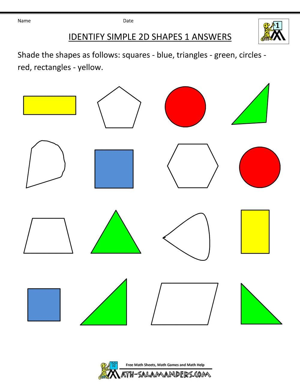 Two Dimensional Shapes Worksheets 3 2 and 3 Dimensional Shapes Worksheets for First Grade