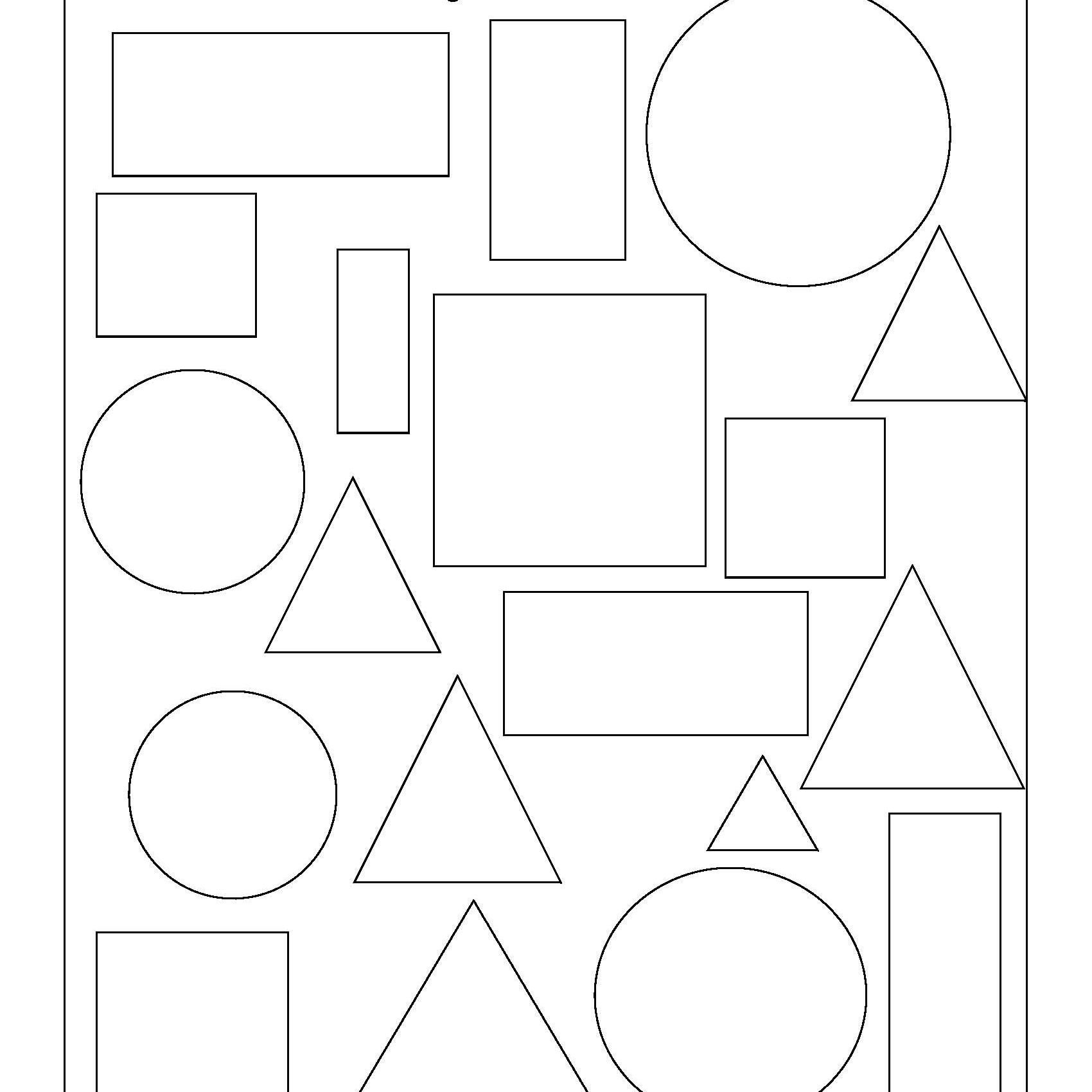 Two Dimensional Shapes Worksheets Geometry Worksheets for Students In 1st Grade