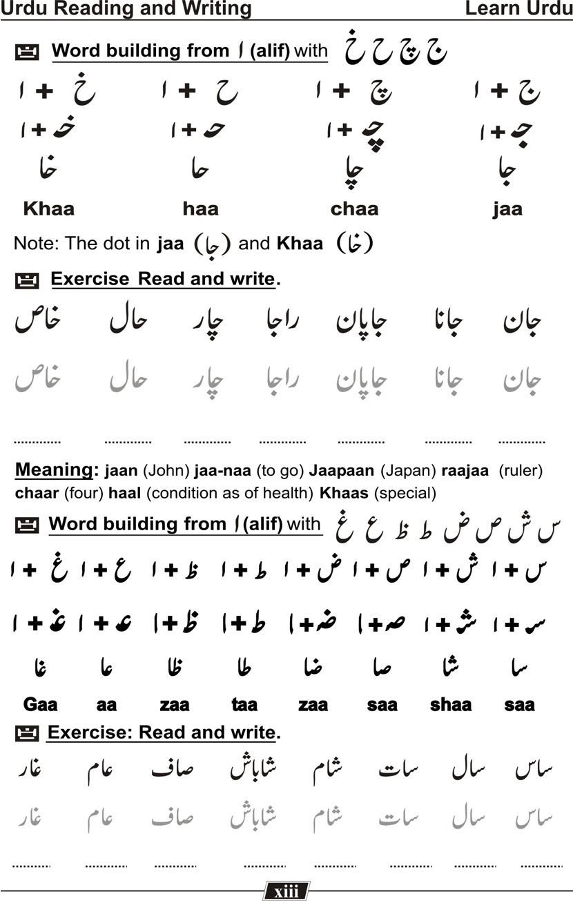 Urdu Alphabet Worksheet Learn Urdu Language