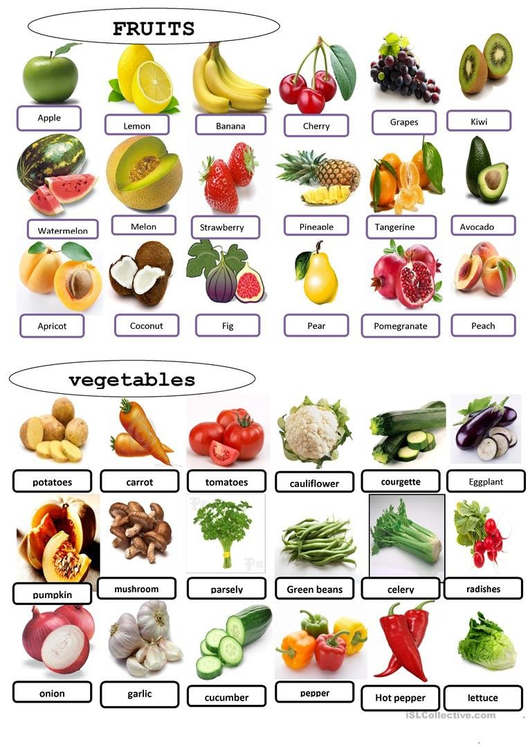 Vegetables Worksheets for Kindergarten English Esl Ve Ables Worksheets Most Ed 194