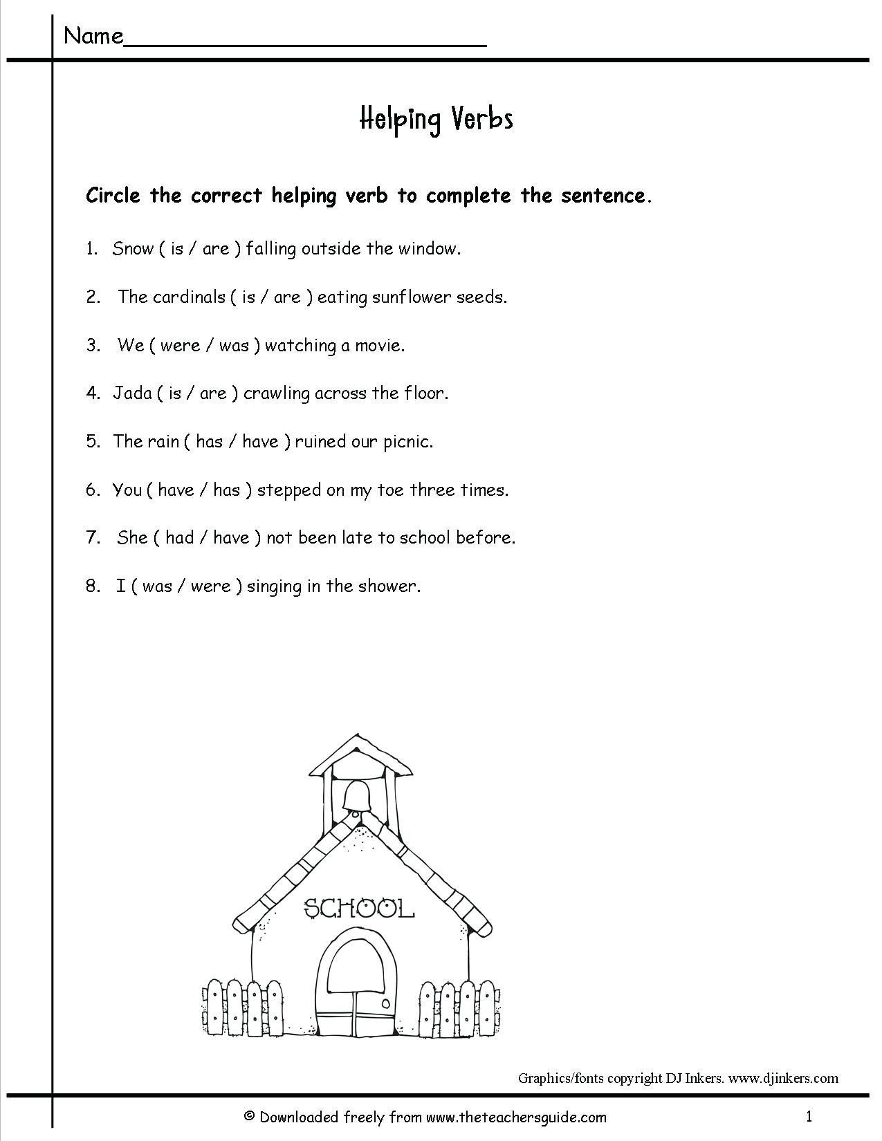 helping verbs worksheets 3rd grade 25