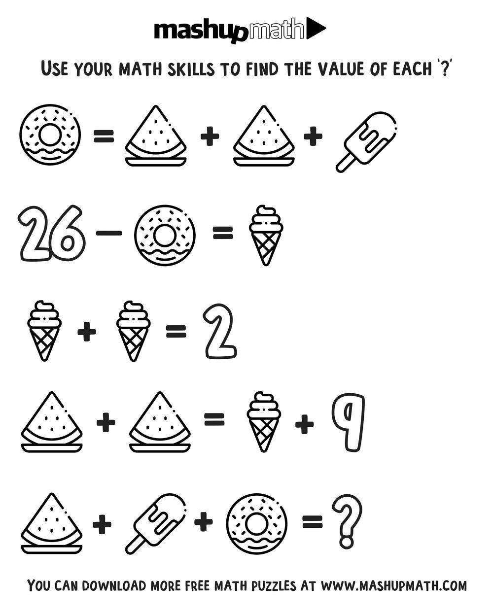free math coloring worksheets for 3rd and 4th grade mashup math 105