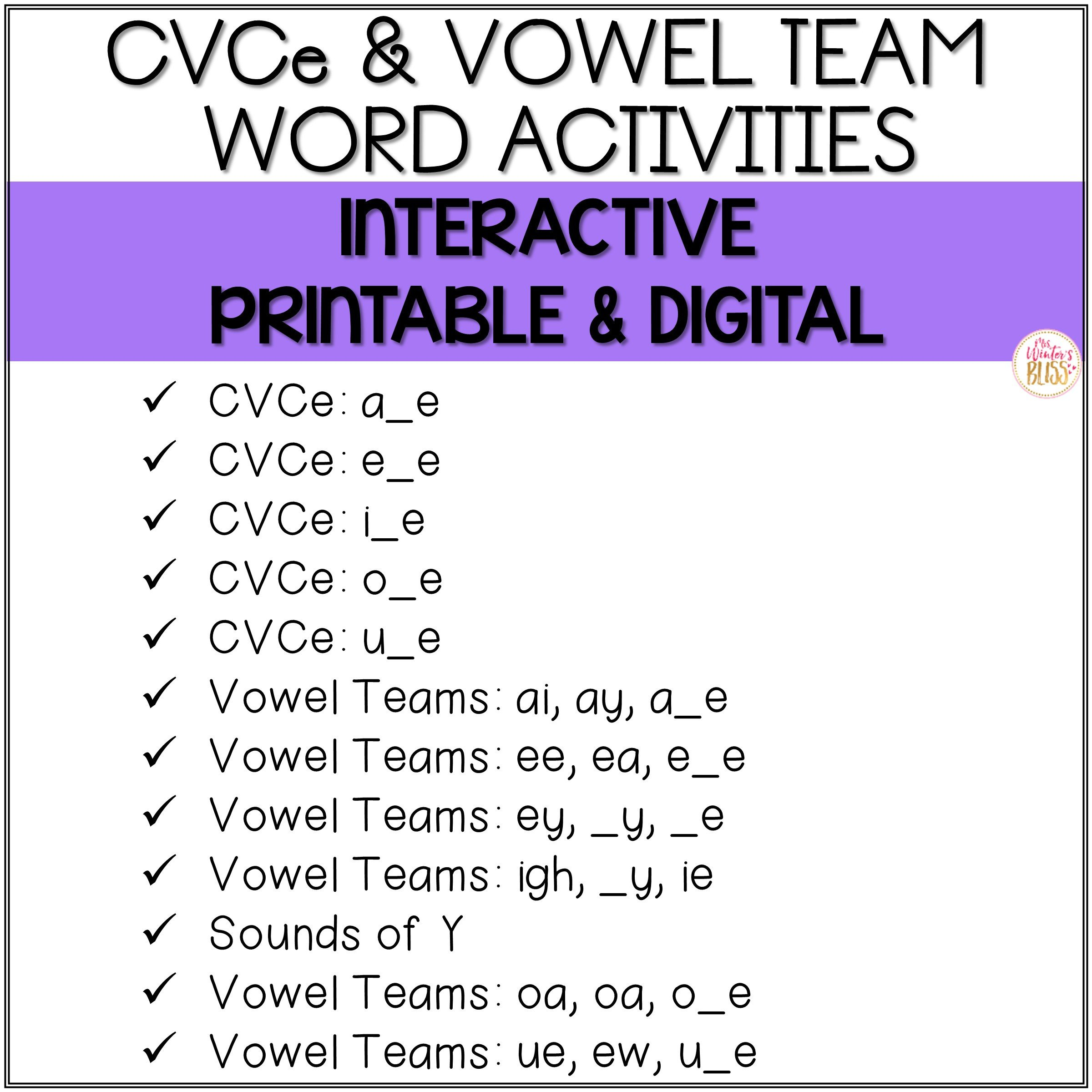 Vowel Team Ea Worksheets Long Vowel Phonics Printable & Digital Preloaded Seesaw™ & Google Classroom™