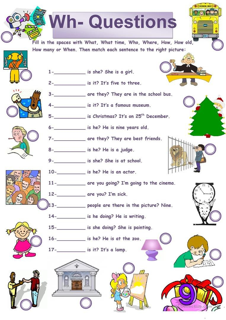 Wh Questions Worksheets Pdf English Esl Wh Questions Worksheets Most Ed 58