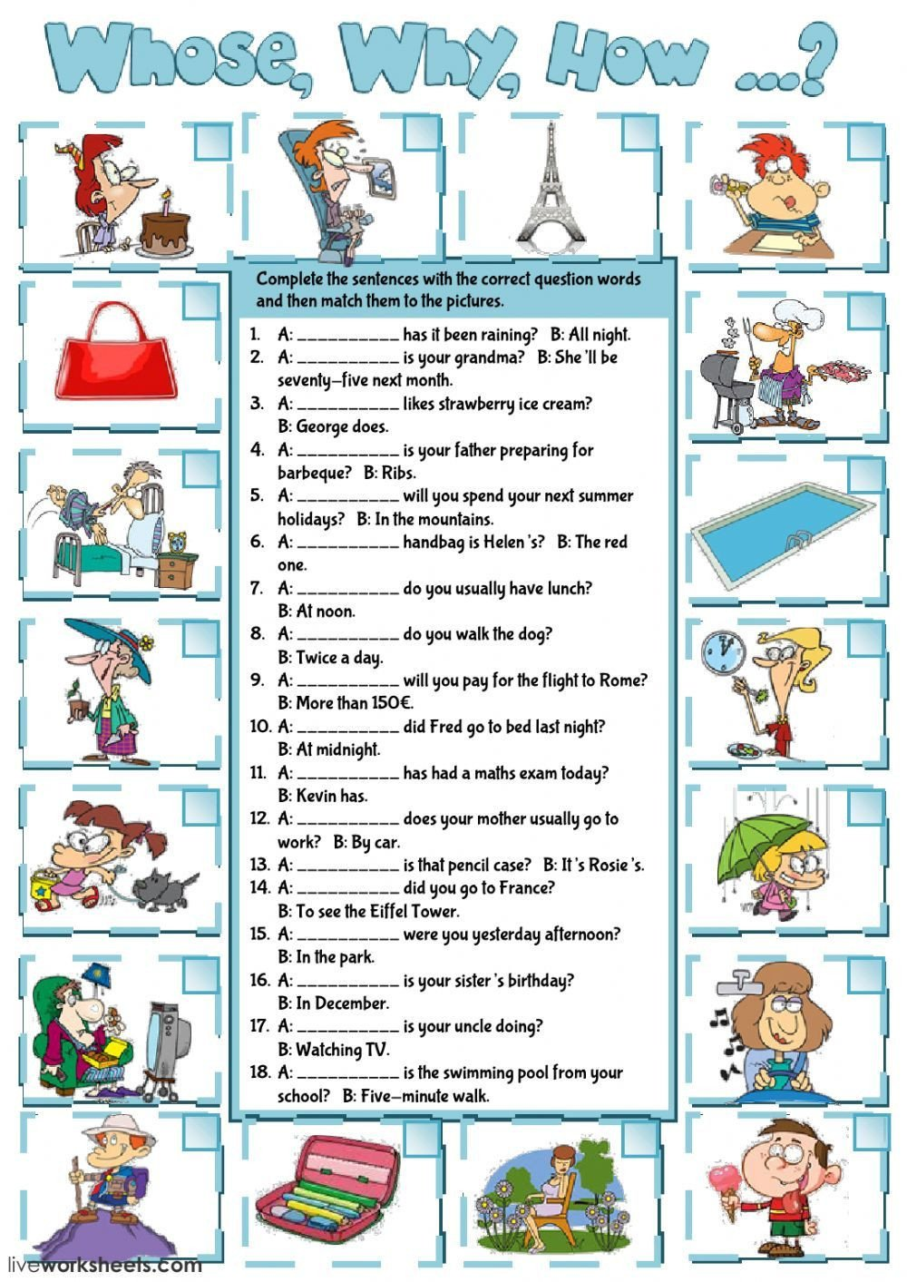 Wh Questions Worksheets Pdf Question Words Interactive and Able Worksheet You