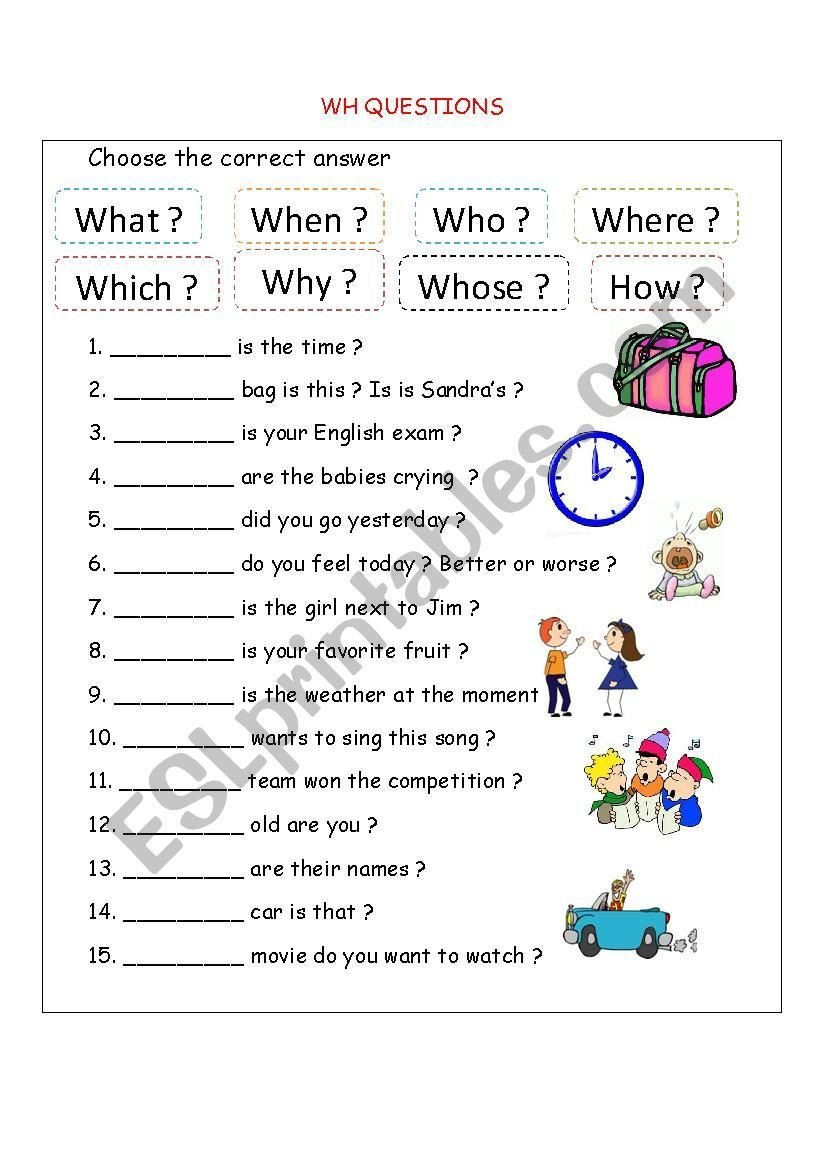 Wh Questions Worksheets Pdf This is A Worksheet for Both the Beginners and the