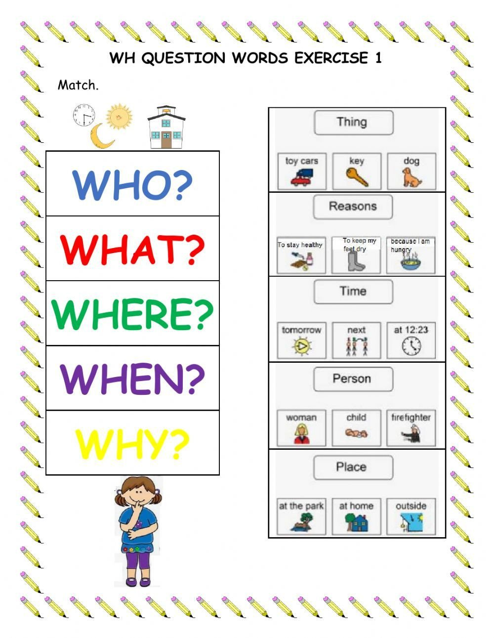 Wh Questions Worksheets Pdf Wh Questions Interactive and Able Worksheet You Can