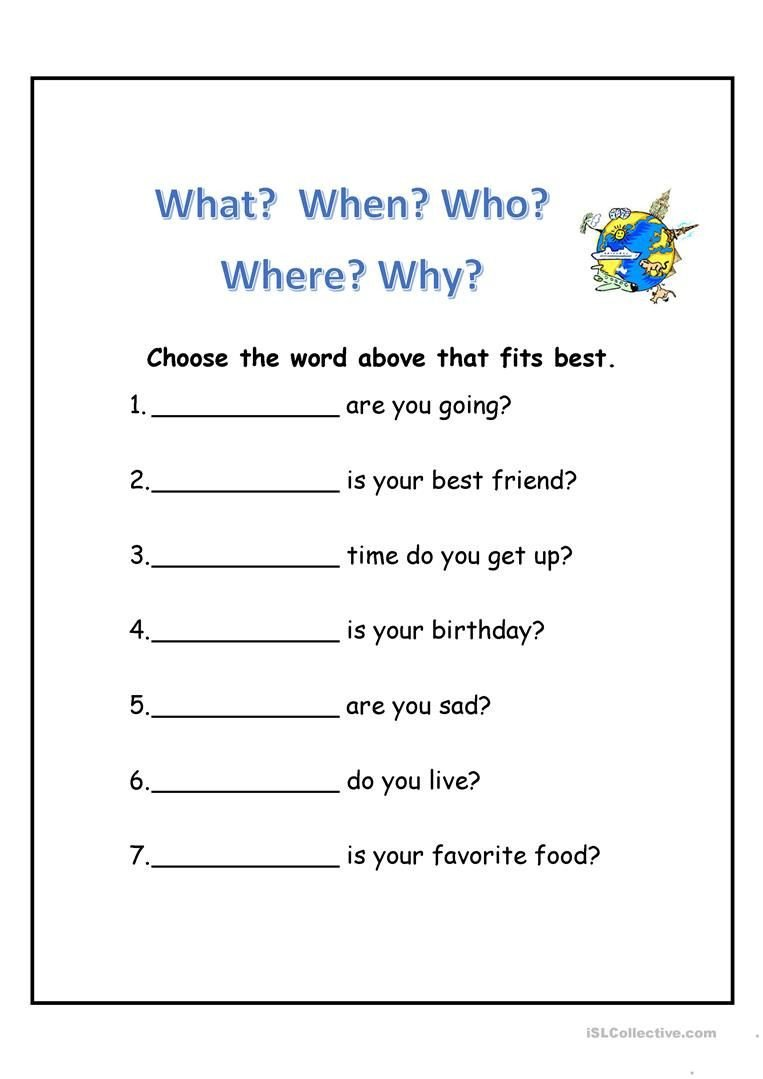 Wh Questions Worksheets Pdf Wh Questions Worksheet Free Esl Printable Worksheets Made