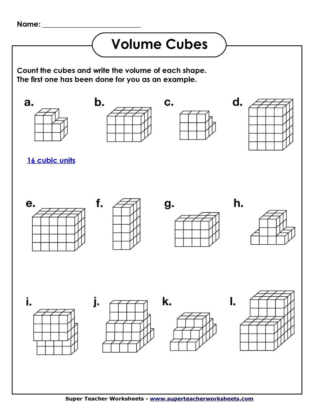 Worksheet Works Calculating Volume Image From