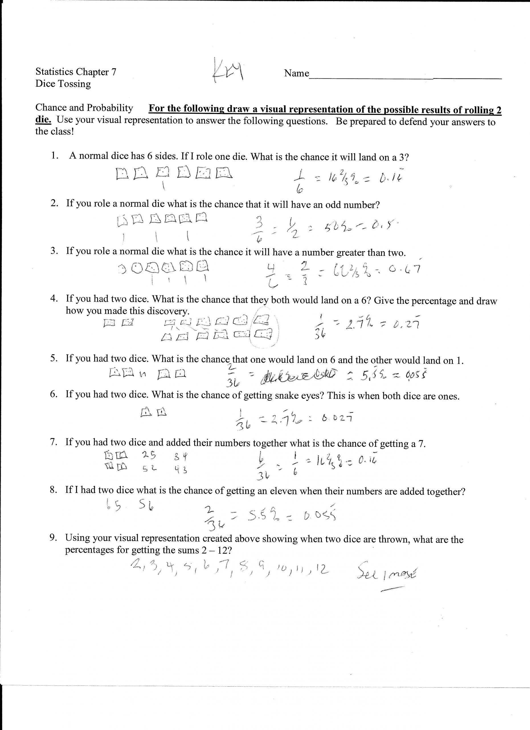 independent and dependent probability worksheet with answer key