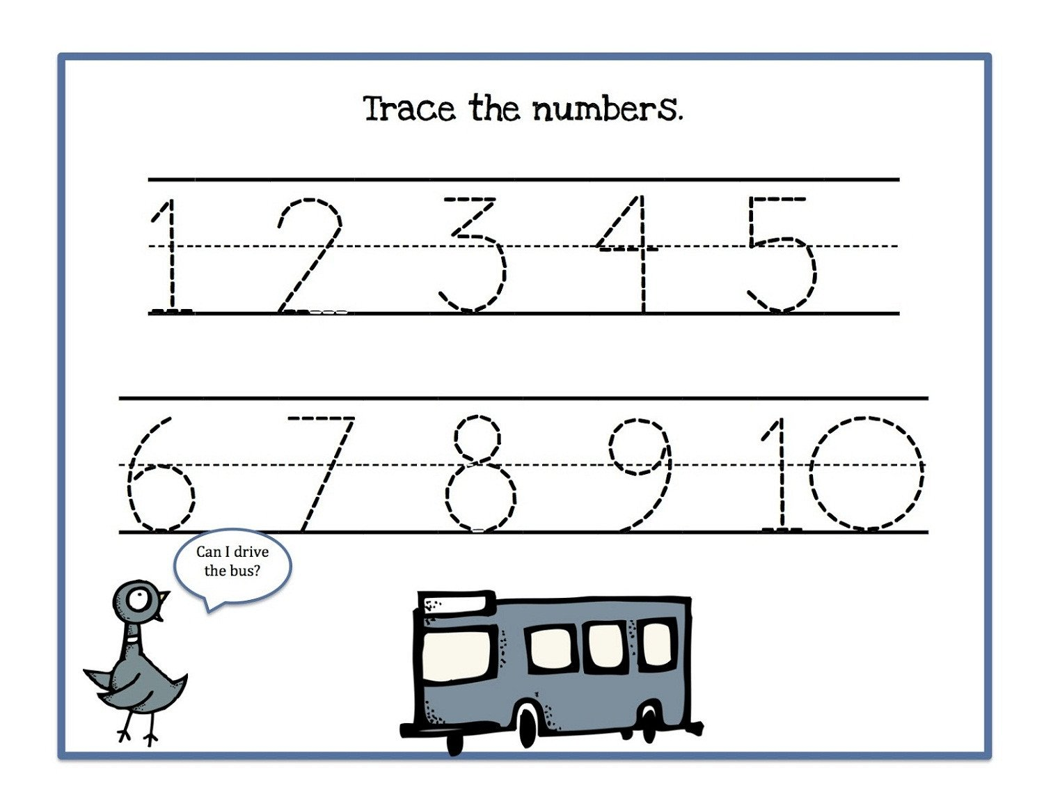 1 10 Writing Worksheets Tracing Numbers 1 10 Worksheets