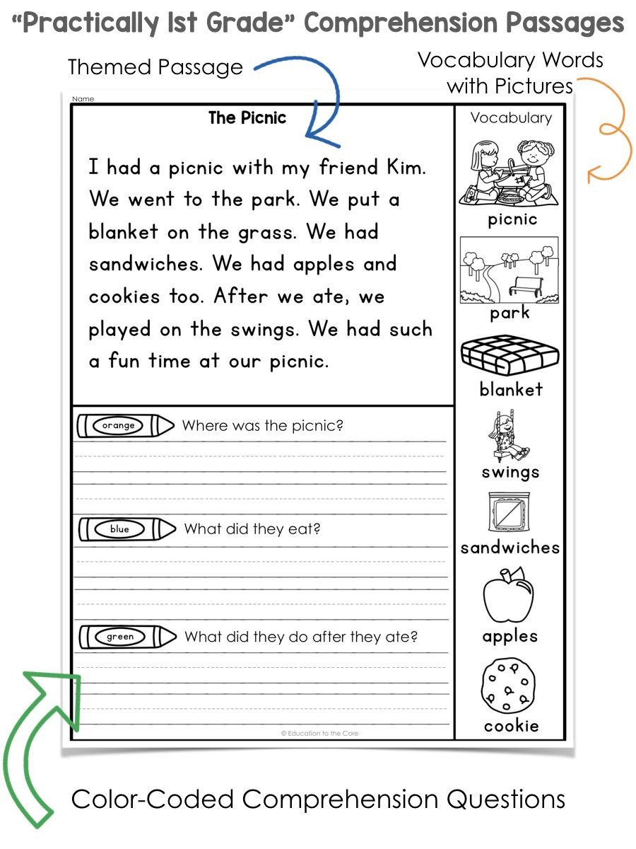 1st Grade Comprehension Worksheets Free 1989 Generationinitiative Page 5 Free Printable Math