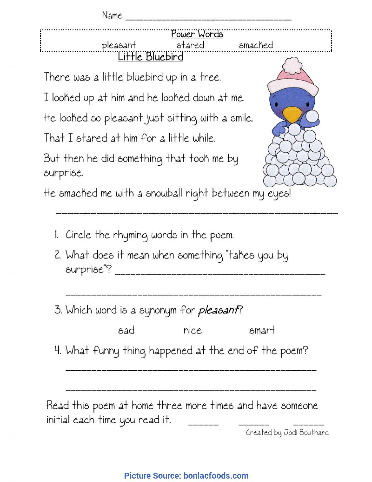 1st Grade Comprehension Worksheets Free Math Worksheet Reading First Grade Worksheets Line 1st