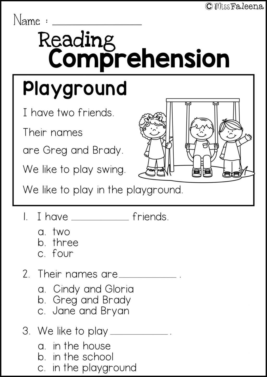 1st Grade Comprehension Worksheets Free Worksheet Worksheet Reading Prehension 1st Grade
