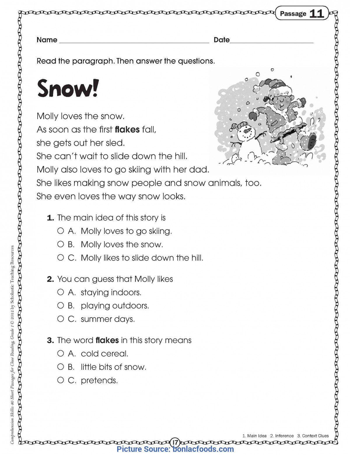 1st Grade Reading Fluency Worksheets Math Worksheet 1st Grade Reading Passages Free Printabled