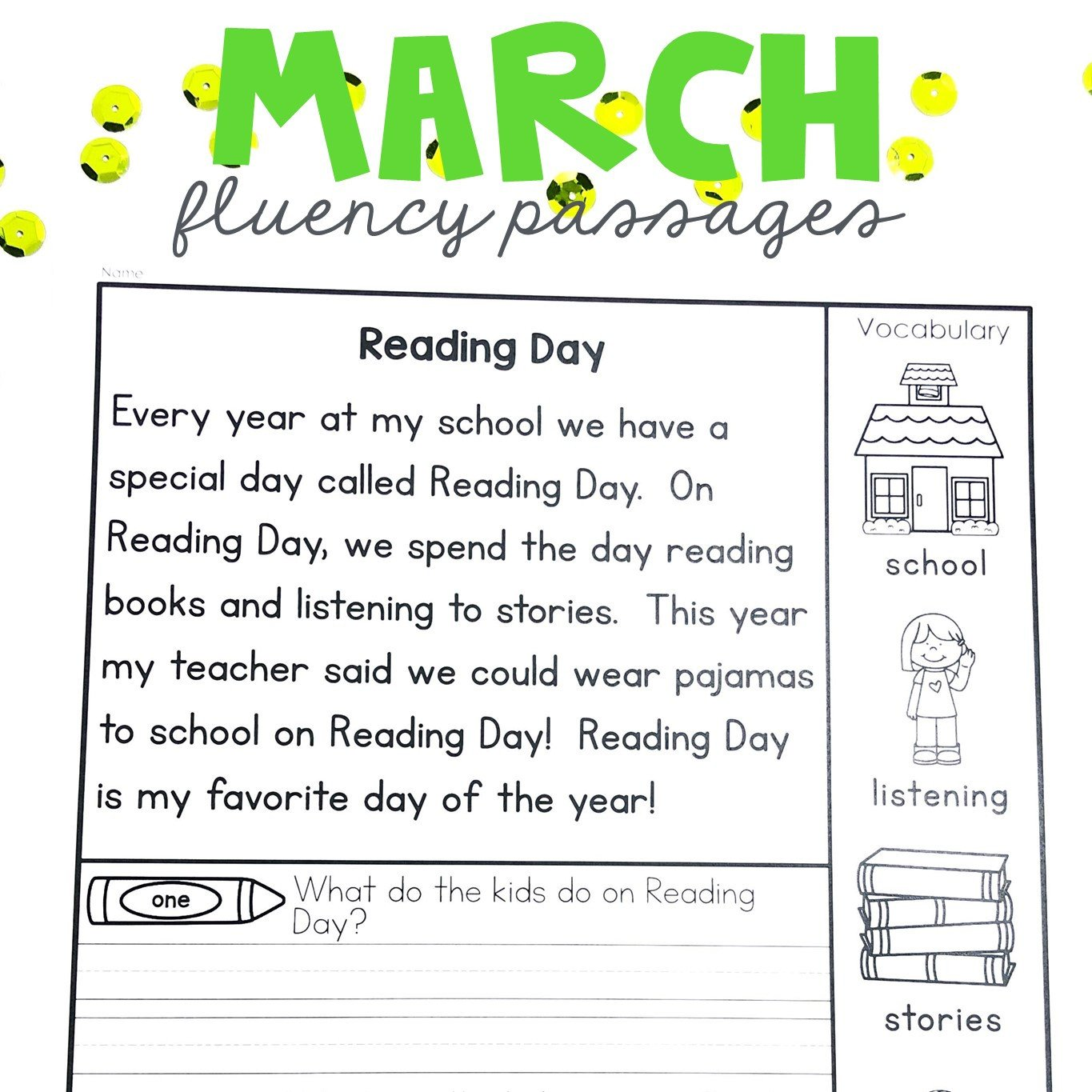 1st Grade Reading Fluency Worksheets Math Worksheet First Grade Reading Passages with Questions