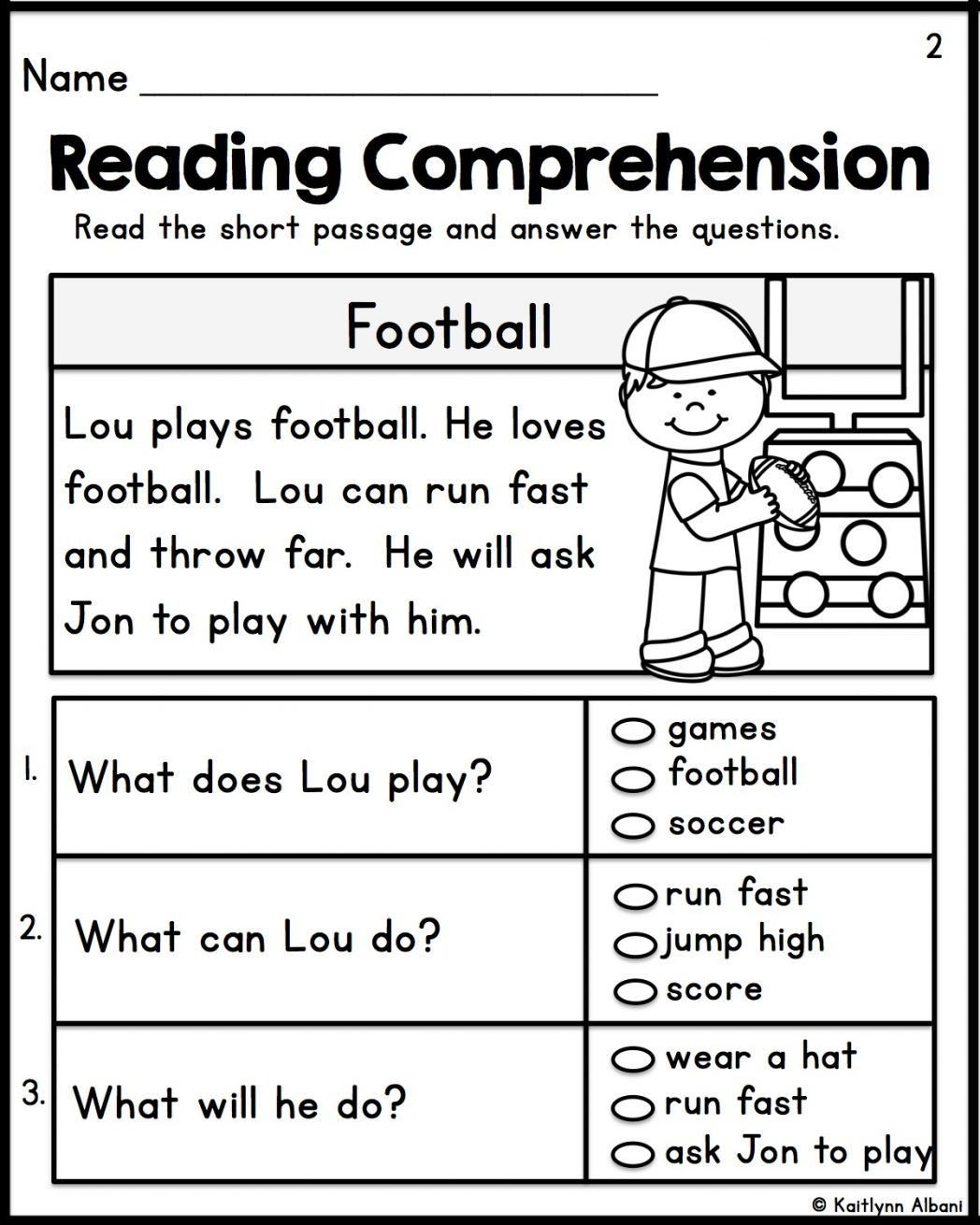 1st Grade Reading Fluency Worksheets Worksheet